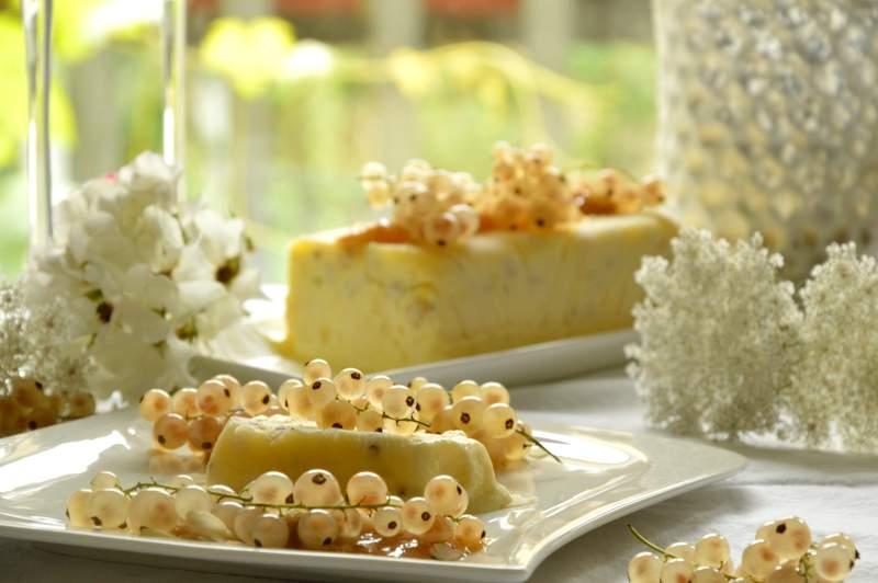 Weißes Crisp Johannisbeer Parfait
