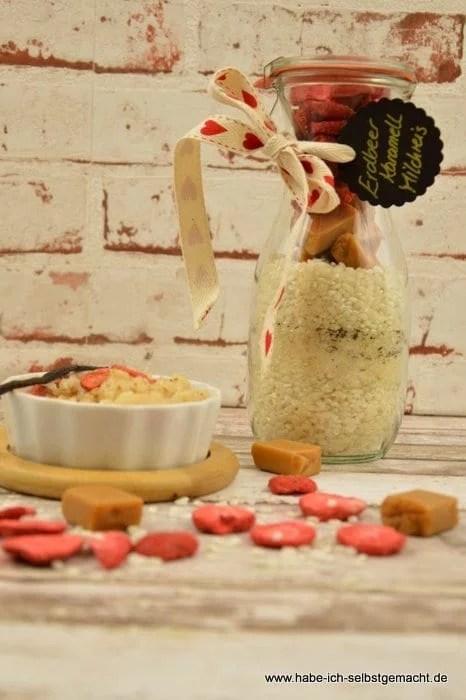 Erdbeer Karamell Milchreis