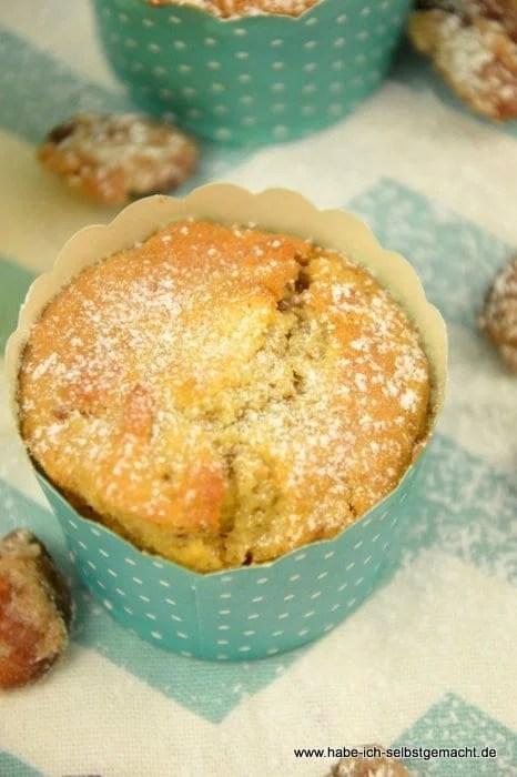 Apfel Muffins mit gebrannten Mandeln