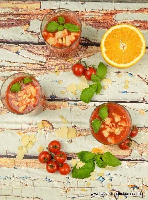 Tomatensuppe mit Orange