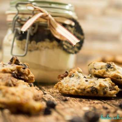 Vegane Walnuss Blaubeer Cookies – Backmischung