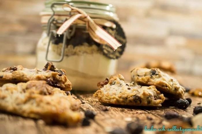 vegane BM Blaubeer Walnuss Cookies