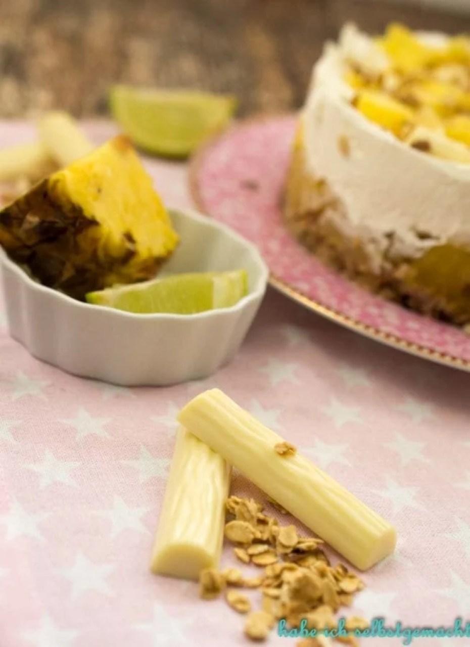 Ananas Torte mit Limetten