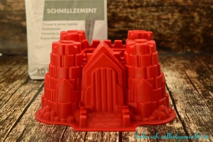 DIY Ritterburg Blumentopf aus Beton