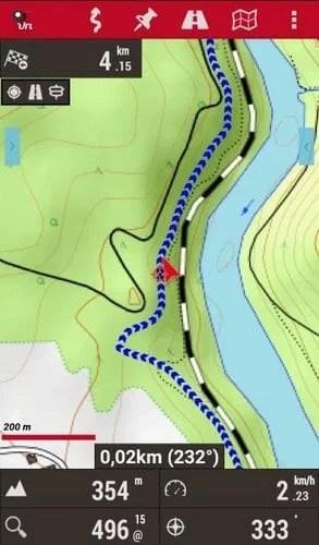 Screenshot OruxMaps Outdoor Navigation App