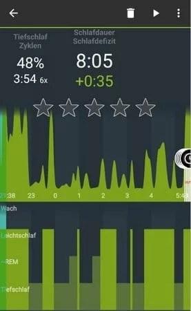 Sleep as Android - Schlafzyklen