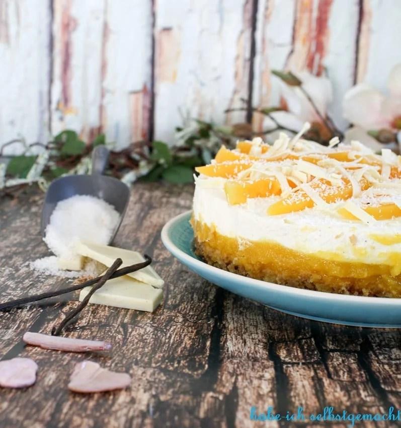 No Bake Kokos Mango Torte Habe Ich Selbstgemacht