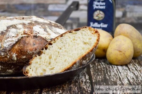 Brot selber backen - Kartoffel-Bier-Brot