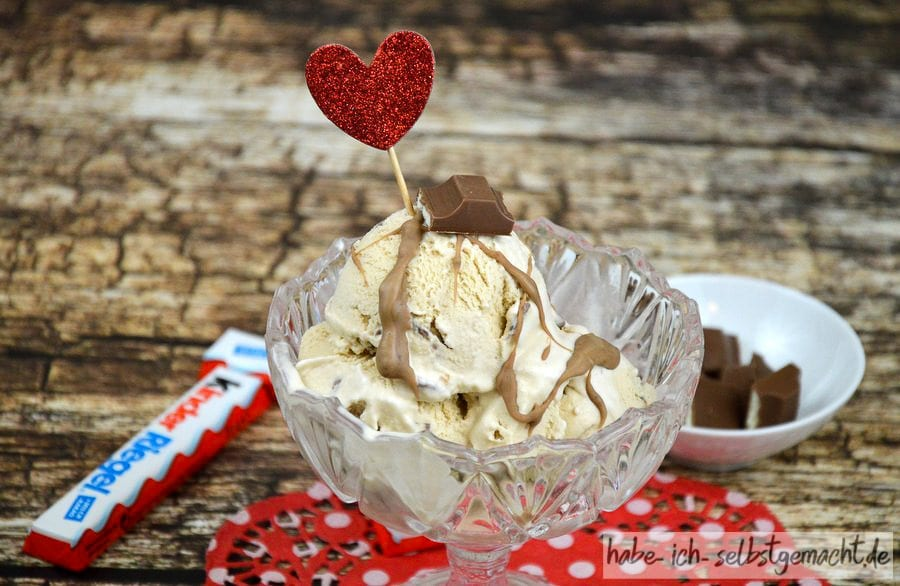 Rezept für selbstgemachtes Kinderschokolade-Eis