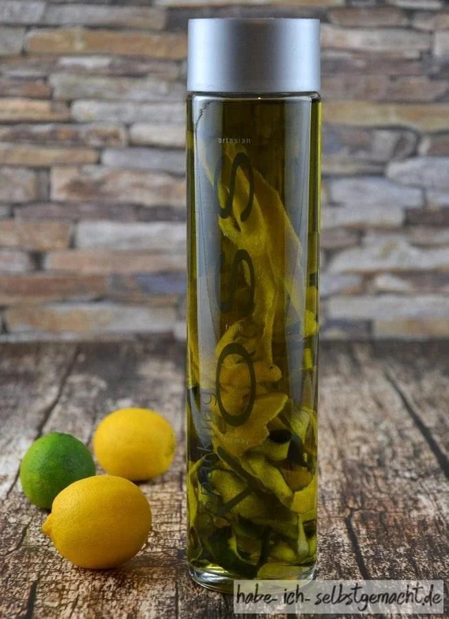 Selbstgemachtes Zitronen-Limetten-Öl