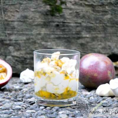 Maracuja Wölkchen Dessert