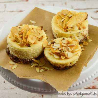 Apfel-Cheesecake Muffins mit Amaretto (lowcarb)