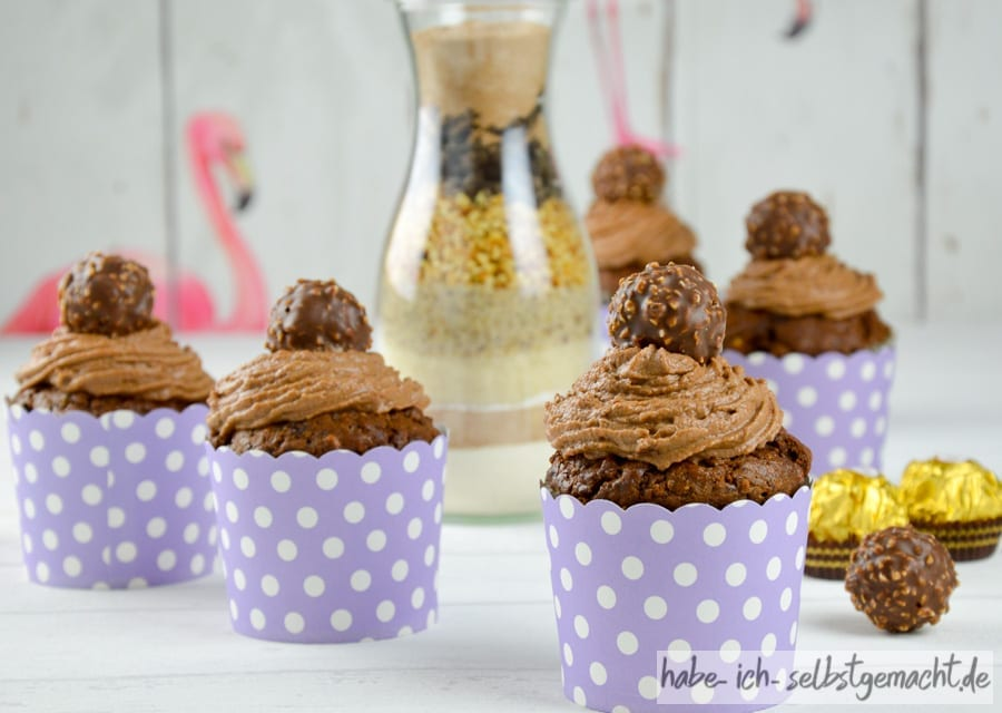 Haselnuss-Schoko Cupcakes