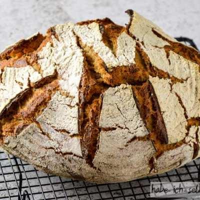 Brot #23 – Braunhirse Sauerteig Brot