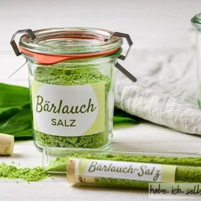 Bärlauch Salz zum Verschenken