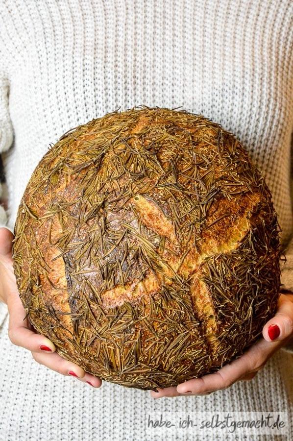 Brot #30 - Mediterranes Rosmarin Sauerteig Brot