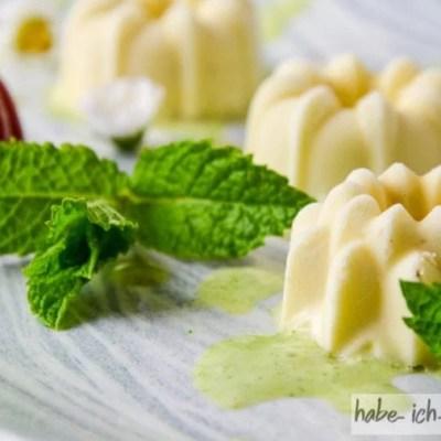 Panna Cotta mit fruchtiger Limetten-Minze-Absinth Sauce