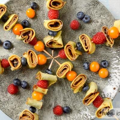 Fingerfood: Crêpes Spießchen süß oder herzhaft