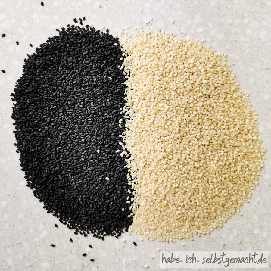 Schwarzer und goldener Sesam