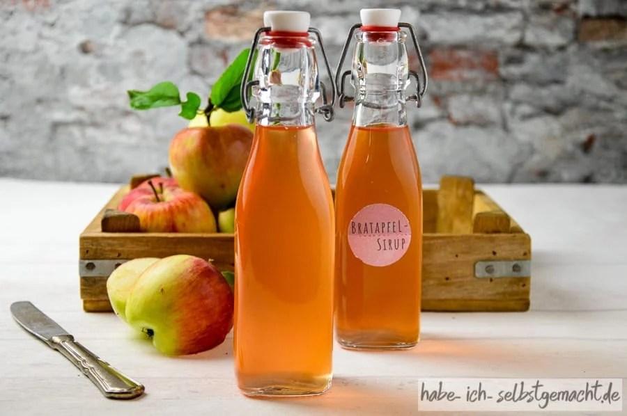 Bratapfel-Sirup aus frischen Äpfeln