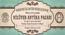 Nilüfer Antika Pazarı'na törenli açılış