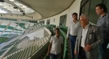 Burası Timsah Arena'daki Nilüfer Belediyesi locası