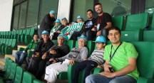 Huzurevi sakinlerinin Nilüfer Belediyesi locasında maç keyfi