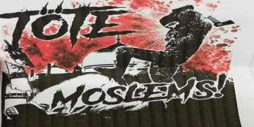 Neo Naziler 'müslümanlara ölüm' yazılı el ilanları dağıttı