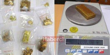 225 bin euro değerinde altın yakalandı