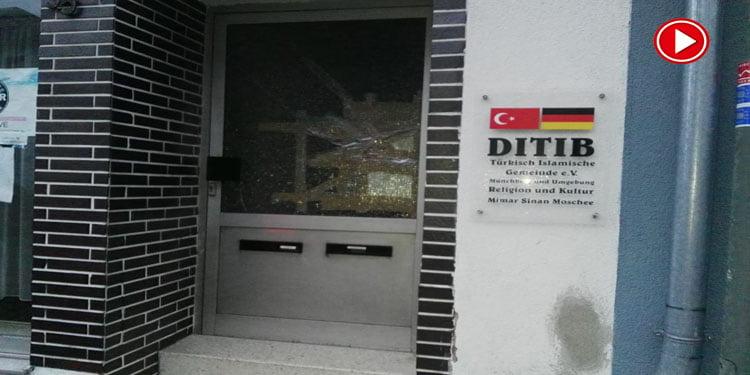 Münchberg'de camiye saldırı (VİDEOLU)