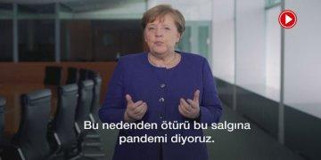 Şansölye Merkel Türkçe altyazılı koronavirüs mesajı yayınladı