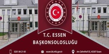 Essen Başkonsolosluğu'ndan koronavirüs açıklaması