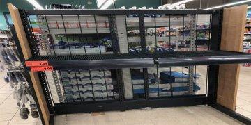 Koronavirüs paniği market raflarını boşalttırdı