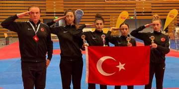 Milli tekvandocular Almanya'da 4 madalya kazandı