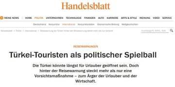 Almanya tatilcileri siyasi oyun topuna çevirdi