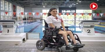 Paralimpik milli yüzücünün hedefi altın madalya (VİDEO)