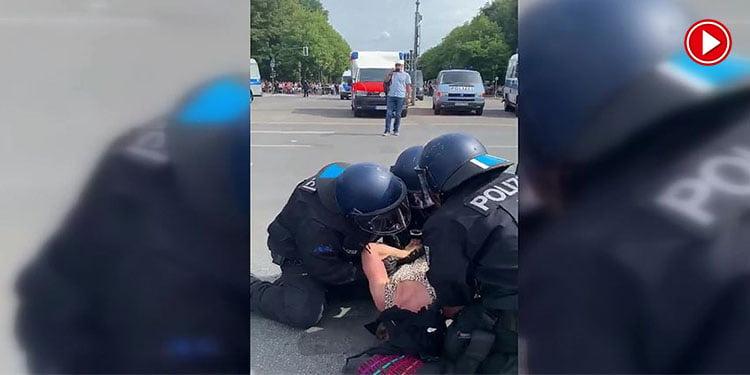 Polis şiddeti tepki çekti (VİDEO)