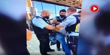 Alman polisinin görme engelli kişiye uyguladığı şiddetin görüntüleri ortaya çıktı (VİDEO)