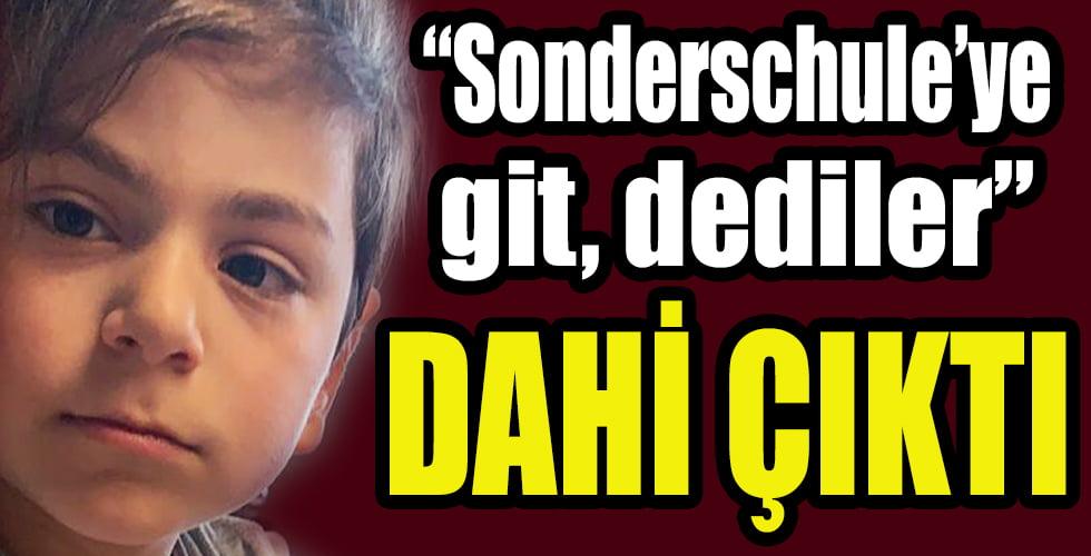 Üstün zekalı Emir'e Sonderschule baskısı