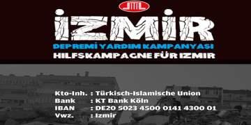 DİTİB, İzmir depremi yardım kampanyası başlattı