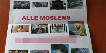 Camiye İslam karşıtı mektup