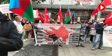 Wuppertal'de Azerbaycan'a destek mitingi (VİDEO)