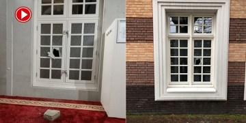 Hollanda'da Amsterdam Ayasofya Camisi'ne saldırı düzenlendi (VİDEO)