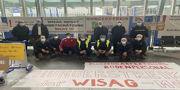 Frankfurt Havalimanı'nda korona bahanesiyle işten çıkarılan 230 işçiden 5'i açlık grevine başladı