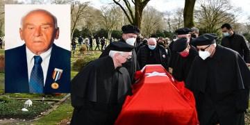 Almanya'da vefat eden Kore Gazisi Ermeni asıllı Minas Kaya, Türk bayrağıyla son yolculuğuna uğurlandı