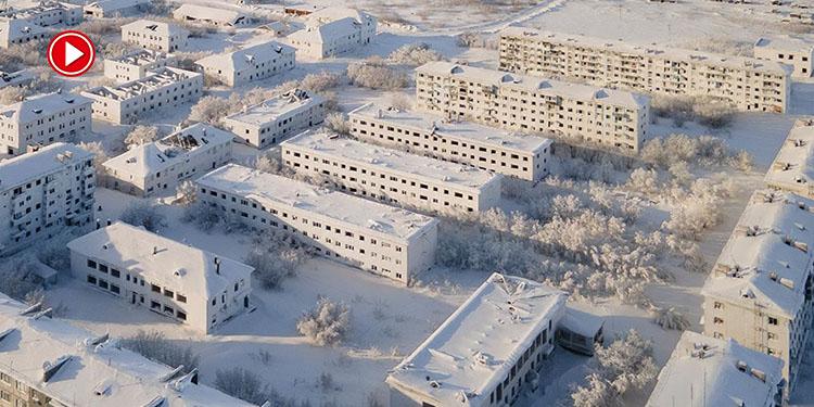 Buz ve karlarla kaplı şehir: Vorkuta (VİDEO)