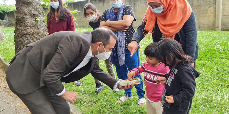 DİTİB İtalya'daki mültecilere ramazan yardımı yaptı