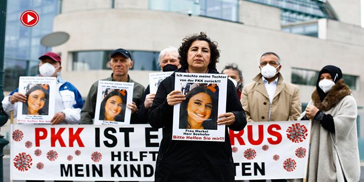 """Almanya'da kızı PKK tarafından kaçırılan anne:""""Kızım evine dön"""" (VİDEO)"""