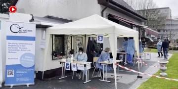 Almanya'da camilerde Kovid-19 testi yapıldı (VİDEO)