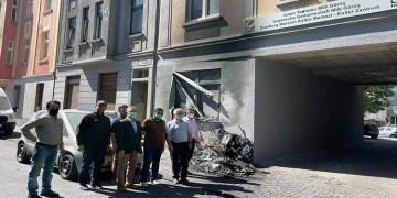 Duisburg'da camide yangın